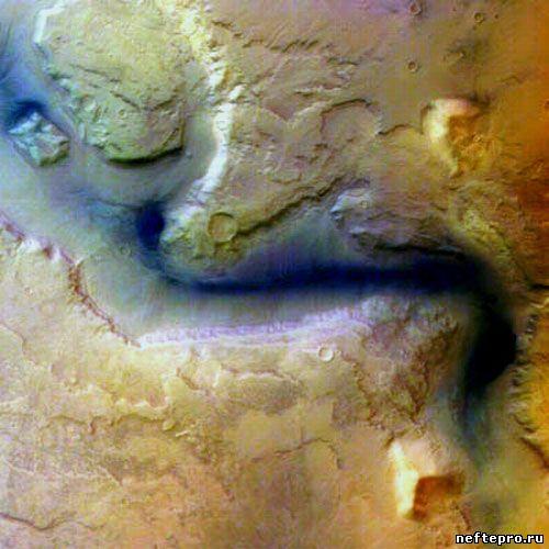 сухое русло на Марсе