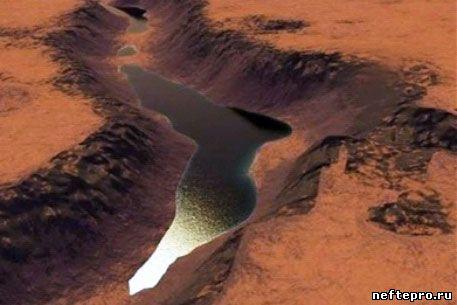 озеро нефти на Марсе