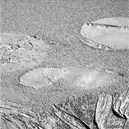 пятна нефти на Марсе