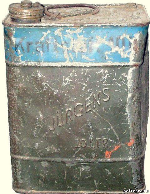 старая топливная канистра на 10 литров