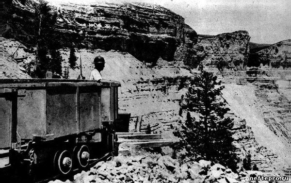 вагонетка для перевозки горючего сланца